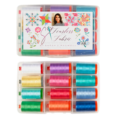 Aurifil Fearless with Fabric Collection by Sarah Maxwell -12 spools 50 wt
