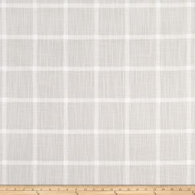 Premier Prints Modern Farmhouse Abbot Windowpane Slub Canvas French Grey