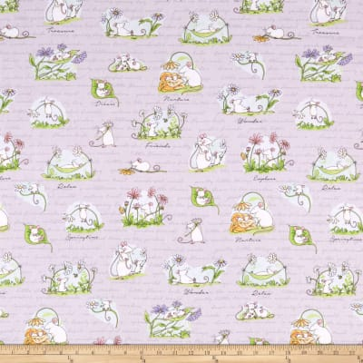 Clothworks Daisy, Daisy Scene Light Purple