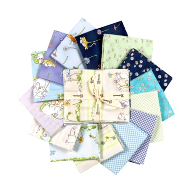 Clothworks Daisy, Daisy Fat Qtr Pack, 14 pcs.