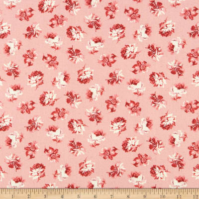Clothworks Around the Roses Toss Pink