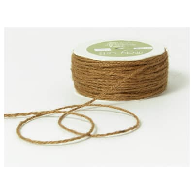 """1/16"""" Twisted Jute Rope Cord, Natural, (Roll, 30 yards)"""