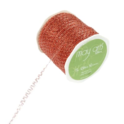 """1/8"""" Self-Curling Sparkle Ribbon, Red (Roll, 100 yards)"""