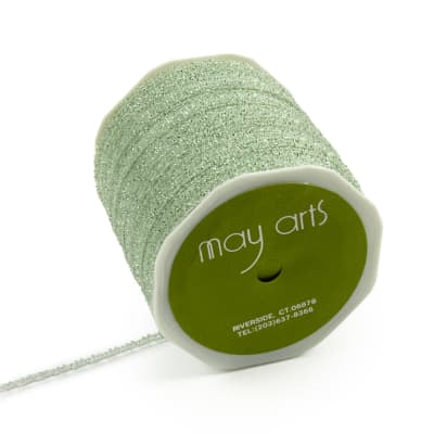 "1/8"" Self-Curling Sparkle Ribbon, Parrot Green (Roll, 100 yards)"
