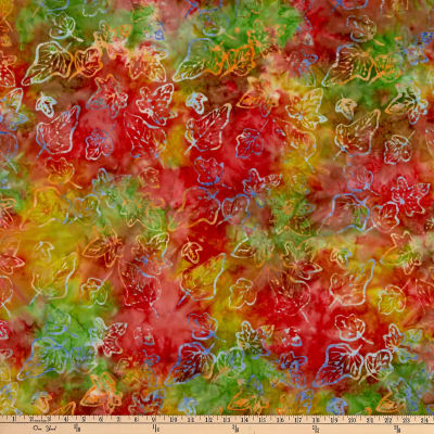 Anthology Batiks Celebration Falling Leaves Multi