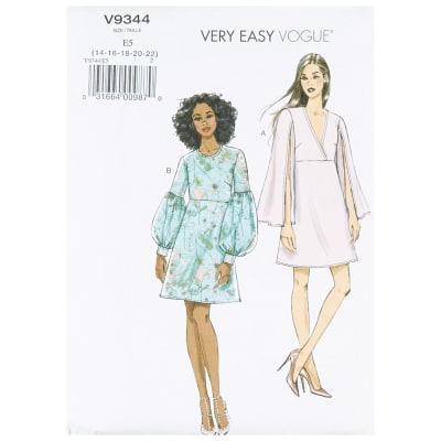 Vogue V9344 Wardrobe Misses' Dress E5 (Sizes 14-22)