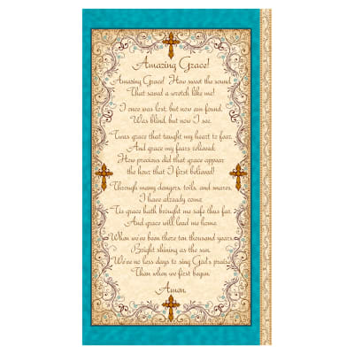 "QT Fabrics Amazing Grace Amazing Grace Panel 24"" Cream"