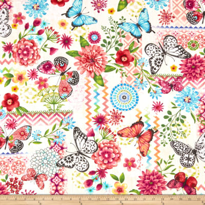Butterfly Dream Patchwork Cream