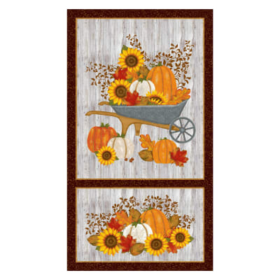 """Thankful And Blessed Panel 24"""" Brown"""