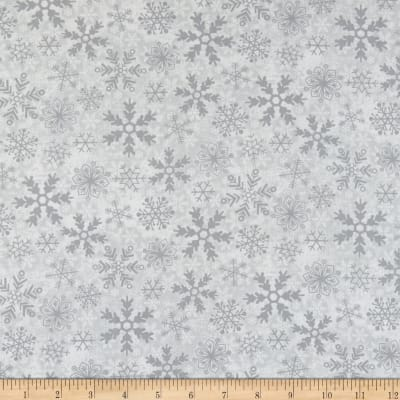 Yuletide Cheer Snowflakes Grey