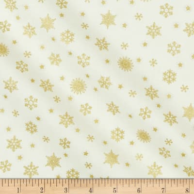 Andover/Makower UK Twelve Days Snowflake Cream