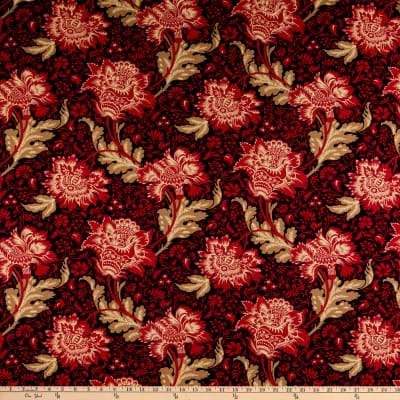 Andover Riviera Rose Jacobean Black