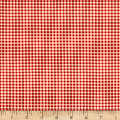 Andover Riviera Rose Gingham Red