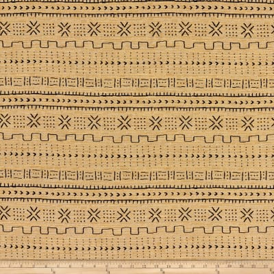 Artistry Navajo Southwest Bogola Mud Cloth Quilted Jacquard Amber