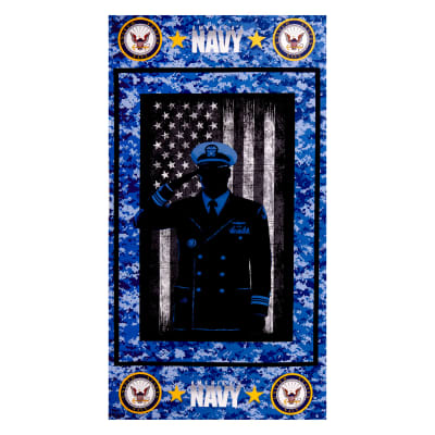 Military cotton panel Navy