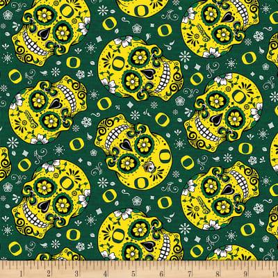 NCAA Oregon Sugar Skull Cotton