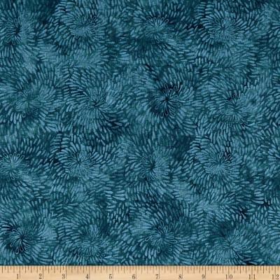 Timeless Treasures Tapestry Raindrop Spiral Teal