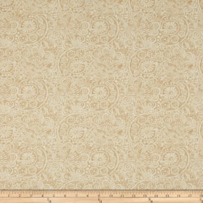 Timeless Treasures Tapestry Flower Scrolls Cream
