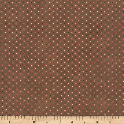 Stoffabric Denmark Quilters Basic Dusty Small Dots Brown
