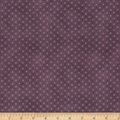 Stoffabric Denmark Quilters Basic Dusty Dots Purple