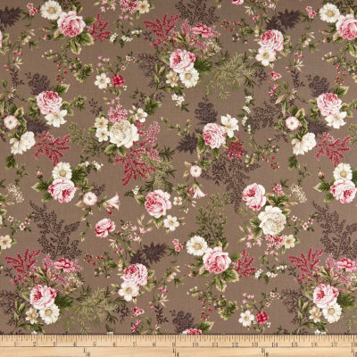 Stoffabric Denmark Juliet Roses Big Roses On Taupe