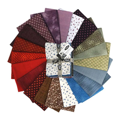 Stoffabric Denmark Quilters Basic Dusty B 20 Assorted Fat Quarters