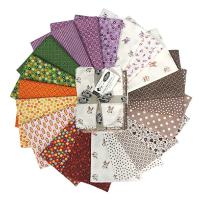 Stoffabric Denmark  Quilters Basic Memory A Fat Quarters 20 Pcs Multi