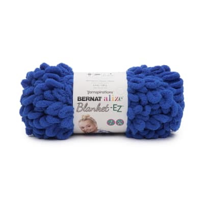 Bernat Alize Blanket-EZ Yarn, Bright Blue