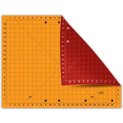 "Sullivans The Cutting Edge 18"" X 24"" Cutting Mat Red/Gold"