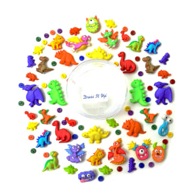 Dress it Up Embellishments Buttons Dinos And Monsters?.Oh My!!