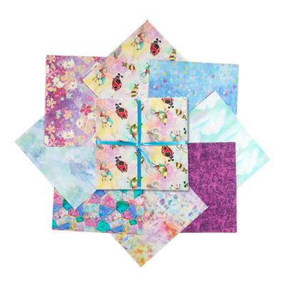 """Fabric Editions In The Meadow 10"""" Charms, 24Pcs"""