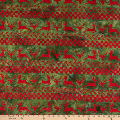 Island Batik Candy Cane Lane Deer Stripe Candy