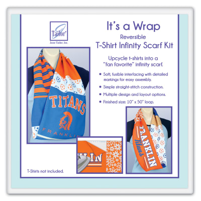 June Tailor It's a Wrap T-Shirt Scarf Kit -- Infinity