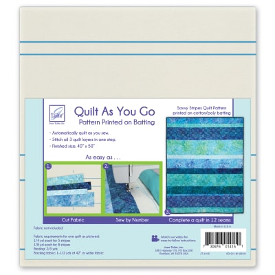 June Tailor Quilt As You Go Express Savvy Stripes Pattern