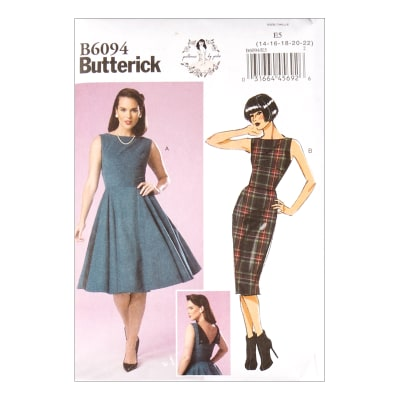 1950s Sewing Patterns | Dresses, Skirts, Tops, Mens Butterick B6094 Patterns by Gertie Misses Dress E5 (Sizes 14-22) $11.97 AT vintagedancer.com