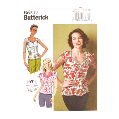 1950s Sewing Patterns | Dresses, Skirts, Tops, Mens Butterick B6217 Patterns by Gertie Misses Blouse D5 (Sizes 12-20) $11.97 AT vintagedancer.com