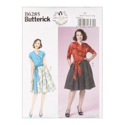1950s Fabrics & Colors in Fashion Butterick B6285 Patterns by Gertie Misses Top and Skirt A5 (Sizes 6-14) $11.97 AT vintagedancer.com