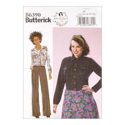 Butterick B6390 Patterns by Gertie Button-Down Jacket with Bust Pockets E5 (Sizes 14-22)