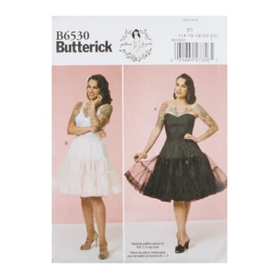 Butterick B6530 Patterns by Gertie Misses' Full Slip and Petticoat E5 (Sizes 14-22)