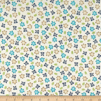 Maywood Studio Make Yourself At Home Friendly Flowers White/Blue