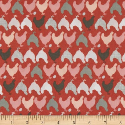 Poppie Cotton Prairie Sisters Hunt and Peck Red