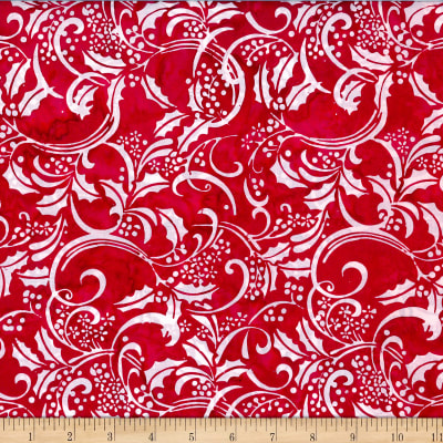 Hoffman Bali Batik Big Scroll Peppermint