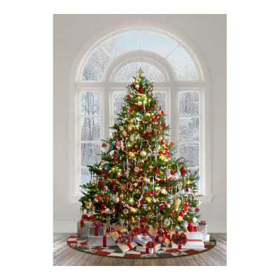 "Hoffman Digital Ol' St. Nick Christmas Tree 31"" Panel Christmas"
