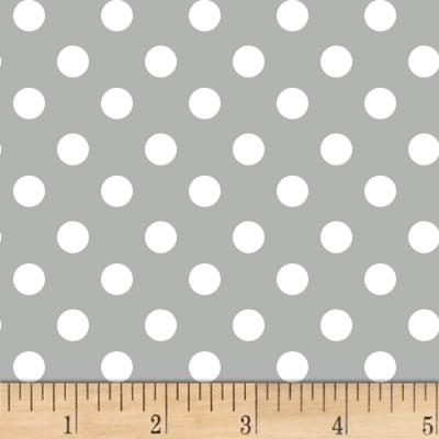 Fun Dots Flannel Grey