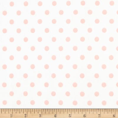 Liverpool Double Knit Polka Dot Blush on Off White