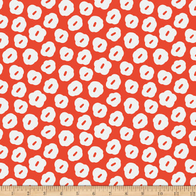 Paintbrush Studios Garden Glory Abstract Blossoms White/Bright Red
