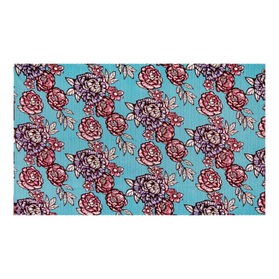 Supreme African Wax Print Flower 6 Yards Blue