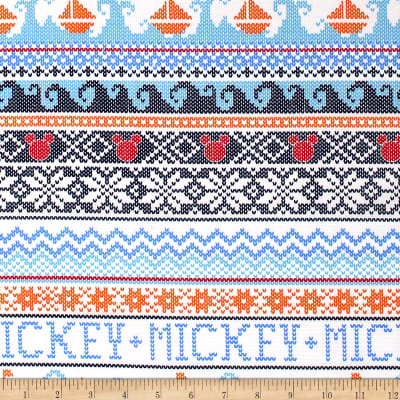 Disney Mickey Mouse Oh Boy! Sweater White
