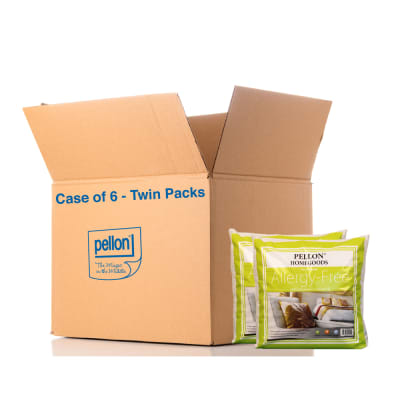 """Pellon® AFPI- Allergy Free Twin Pack Pillow Inserts 16"""" x 16"""" - Case of 6 Twin Packs"""