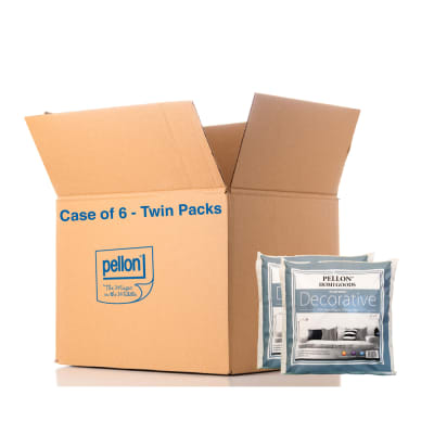 """Pellon® DPI- Decorative Twin Pack Pillow Inserts 18"""" x 18"""" - Case of 6 Twin Packs"""